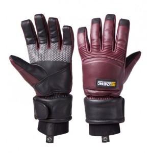 Love Inc red snowboarding / skiing gloves. Made in the UK.