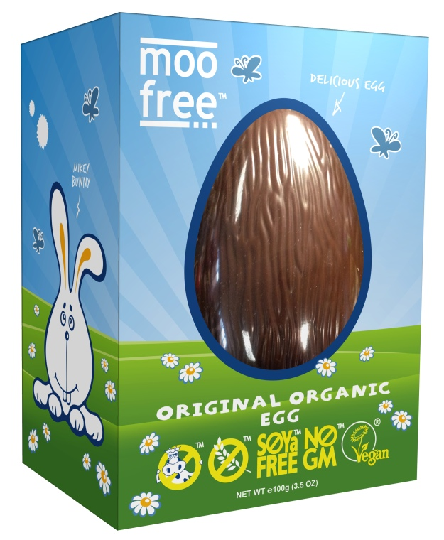 Moo Free Organic Dairy Free Easter Egg. Made in the UK.