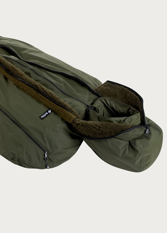 Buffalo Systems Superbag, green sleeping bag. Made in Sheffield, England