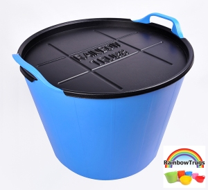Rainbow Trug with lid.  Both trug and lid are made in Britain