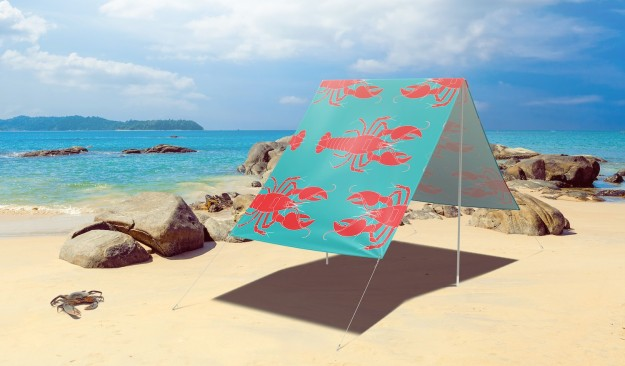 FieldCandy Rock Lobster - Blue sunshade. Made in England.