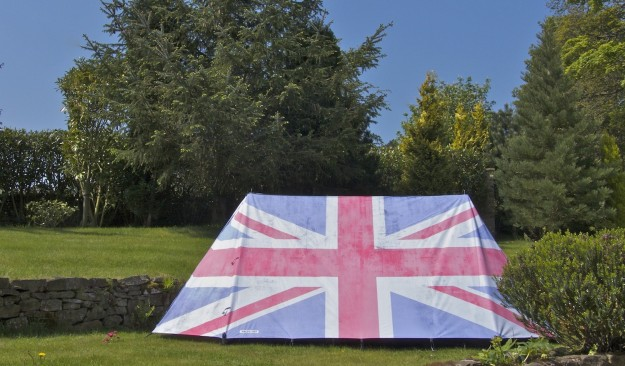 FieldCandy Original Expoloer Rule Britannia tent. Made in England.