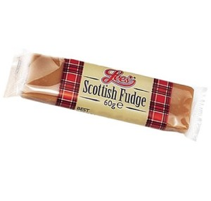 Lee's Scottish Fudge 60g bar, made in Scotland