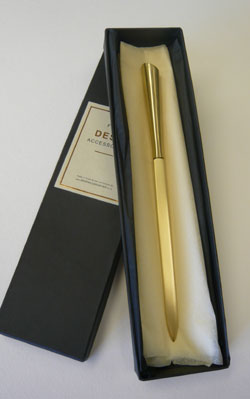 Brushed Brass Letter Opener by www.deskaccessories.co.uk