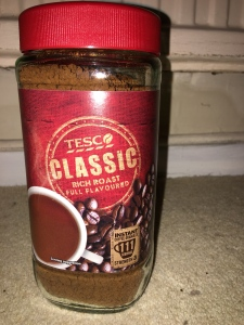 Tesco own brand Classic instant coffee. Produce of more than one country. Does not specicify where it is made specifically but abroad. Packed in the UK.