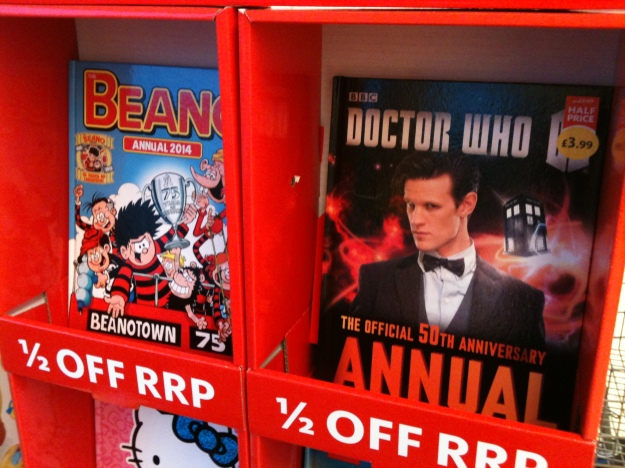 The Beano Annual by DC Thomson & Co. Ltd. - printed in Italy and BBC The Doctor Who Annual by Penguin - printed in China. A disgrace to DC Thomson & Co., the BBC and Penguin that these children's books are foreign made.