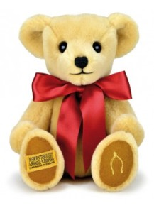 """""""My Merrythought Bear"""". Made in England."""