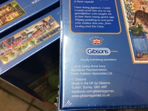 Some Gibsons puzzles are still made in the UK and are labelled as such. Photograph by author.
