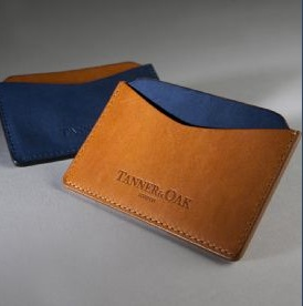Tanner and Oak Avonstoke Card Holder.  Made in the UK.