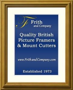 PINE PICTURE FRAME. MADE IN ENGLAND BY FRITH & COMPANY.