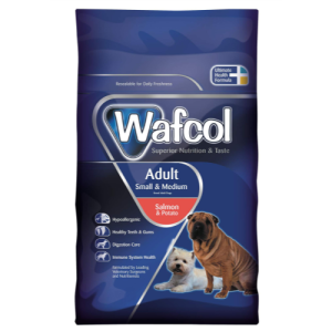 Wafcol Salmon & Potato Small & Medium Dog Food. Made in the UK.