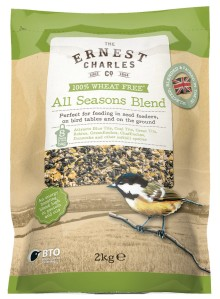 Ernest Charles All Seasons Blend Bird Feed - 2Kg. Selected, blended and packed in the UK.