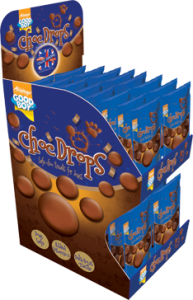Armitage Good Boy Choc Drops for dogs, made using a specially formulated chocolate substitute that does not contain cocoa and is therefore completely safe for dogs to eat. Armitage have been producing dog-safe choc drops in the UK for over 50 years .