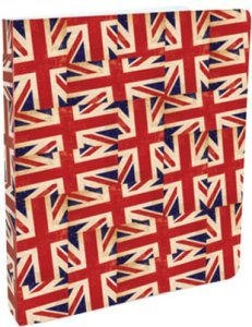 Go Stationery 'softback' A4 Ring Binder Flag Fever. Made in England.