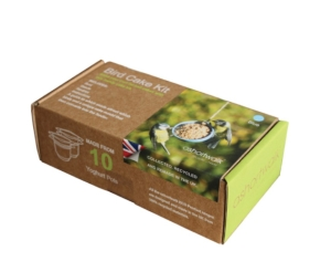 A Short Walk Eco Bird Cake Kit. Collected, recycled and remade in the UK