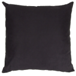 Pet N Home Black Faux Suede Cushion (Large 65cm x 65cm) - COMPLETE WITH HOLLOW FIBRE FILLED INNER. Removable inner. British made.