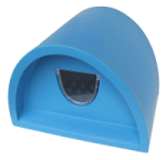 Plastic Cat House / Igloo With Cat Flap - Blue. Waterproof. Indoor and outdoor use. Manufactured In England & Available 5 Colours.