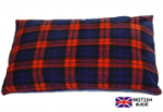 Pet N Home Red Tartan Sherpa Fleece Cat Cushion. British made.