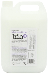 Bio D concentrated fabric conditioner, 5L. Fragrance free. Made in the UK.