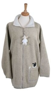 Ramblers ladies embroidered 'Dangly Sheep' full zip fleece Jacket. Made in the UK.