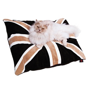 Cat Nappa - Union Jack - Tan/Brown by Creature Clothes. Made in the UK