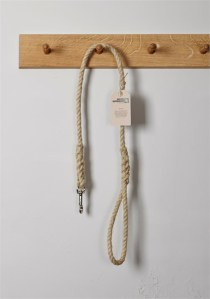 Master Ropemakers Chatham Hemp Rope Dog Lead, 10mm, Tarred Whipping. Made in Kent, England.