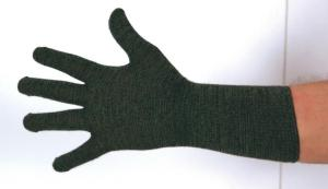 Ussen Thermal Flight Glove (in Olive) with extra long cuff. Made in UK.
