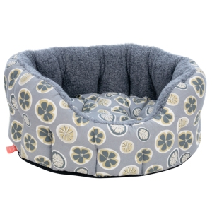 Hector Dog Bed in Poppy fabric. Made in the UK for Poppy & Rufus.