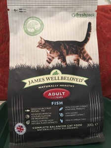 James Wellbeloved Adult Fish cat food. Made in Britain.