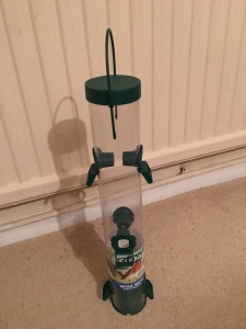 Supa Wild Bird seed feeder (tall size). Manufactured in the UK.