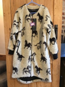bd16f7cded Farfield Original long collarless ladies fleece. Made in Great Britain.  Photograph by author 14 June 2019.