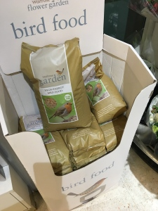 Waitrose Garden Bird Food. Produced in the UK.