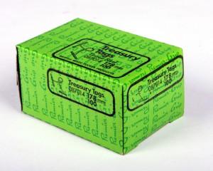 Premier Grip Treasury Tags 178mm Box 100 Metal Ends. British Made.