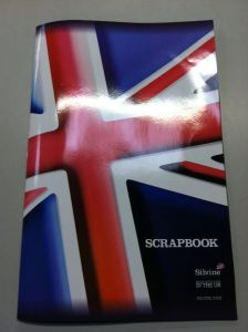 Silvine Union Jack Scrap Book. Made in the UK.