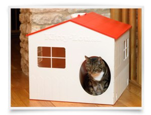 The Kitty Lou Cat Litter House. Made in the UK.
