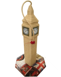 ScratchyCats Big Ben Cat Scratching Post. Made in England.