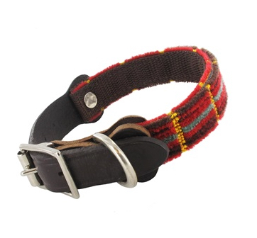 Routemaster Moquette Dog Collar. Made in the UK.