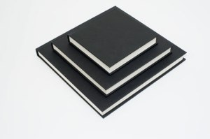 Seawhite Black Cloth Cover Casebound Sketchbooks. Made in the UK with British paper.