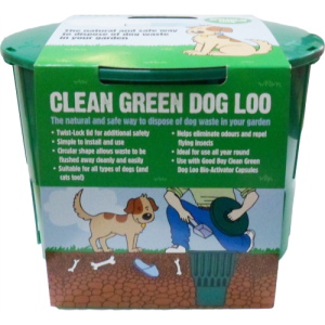 Armitage Good Boy Clean Green Dog Loo. A natural and sage way to dispose of dog waste in your garden. Made in the UK.