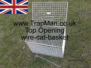 The Trap Man wire cat basket. Made in the UK.
