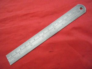 "VINTAGE STEEL RULE IMPERIAL/ METRIC 6"" MADE IN ENGLAND (1)"