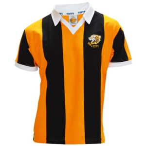 TOFFS Hull City 1975-1980 Retro Football Shirt. Made in England.