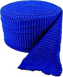 Blue Tubular Thigh Support Bandage. Made by Sweeney First Aid in the UK.