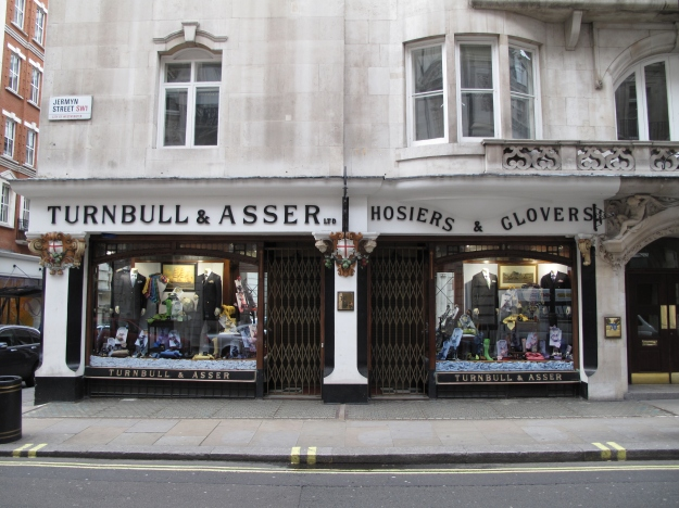 Turnbull and Asser, Jermyn Street, London, March 2010