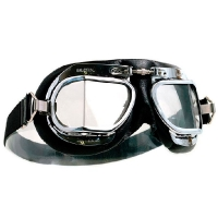 Mark 49 Halcyon Goggles - Black Leather. Made in England.