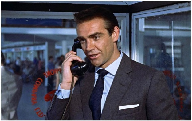 Sartorial Icon: James Bond [1962 Dr No]. Notice those cuffs: Turnbull & Asser turnback button closure.