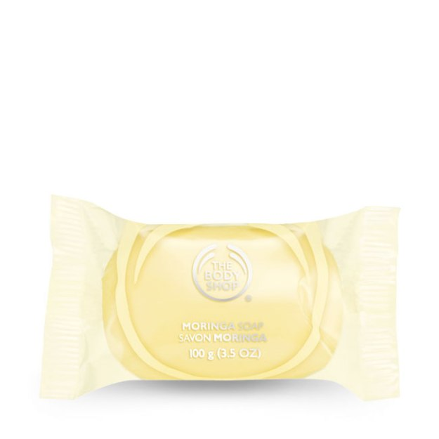 Body Shop Moringa Soap. Made in the UK.