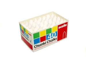 Scola Chunki Chalk. Made in Britain.