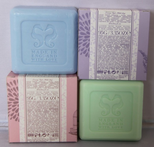 An example of Kay's made in England toilet soap, this one branded Affinity Bay.