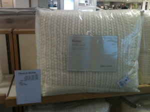 John Lewis wool holey blanket. Made in Britain. 2